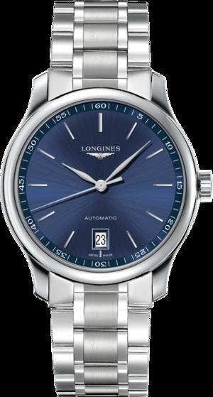 Armbanduhr Longines Master Automatik 38,5mm mit blauem Zifferblatt und Edelstahlarmband