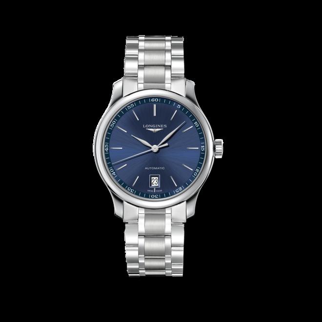 Armbanduhr Longines Master Automatik 38,5mm mit blauem Zifferblatt und Edelstahlarmband bei Brogle