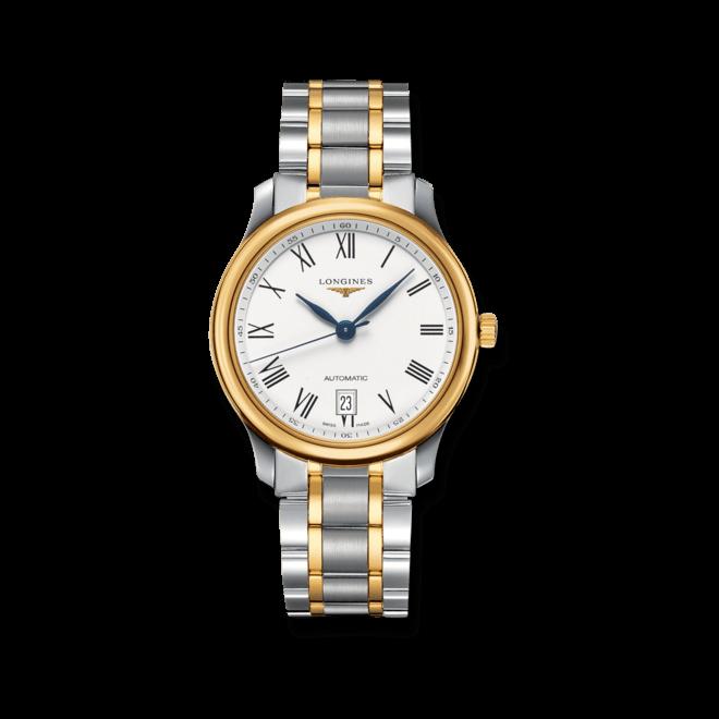 Armbanduhr Longines Master Automatik 38,5mm mit weißem Zifferblatt und Edelstahlarmband bei Brogle