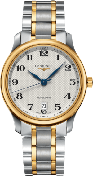 Armbanduhr Longines Master Automatik 38,5mm mit silberfarbenem Zifferblatt und Edelstahlarmband