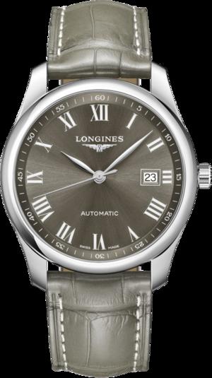 Herrenuhr Longines Master Automatik 40mm mit grauem Zifferblatt und Alligatorenleder-Armband