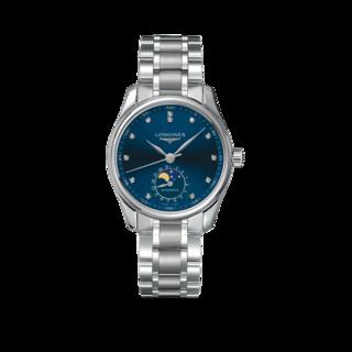 Longines Damenuhr Master Automatik Mondphase 34mm L2.409.4.97.6