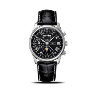 Longines Herrenuhr Master Mondphase Chronograph 40mm L2.673.4.51.7