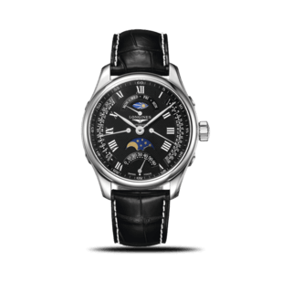 Longines Herrenuhr Master Retrograde Mondphase 44mm L2.739.4.51.7