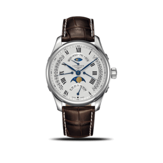 Longines Herrenuhr Master Retrograde Mondphase 44mm L2.739.4.71.3