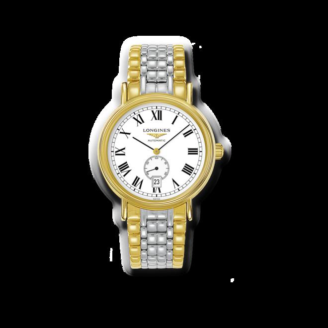Armbanduhr Longines Présence Automatik 40mm mit weißem Zifferblatt und Edelstahlarmband bei Brogle