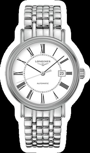 Armbanduhr Longines Présence Automatik 40mm mit weißem Zifferblatt und Edelstahlarmband