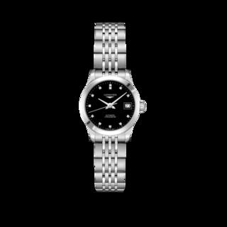 Longines Damenuhr Record Automatik Chronometer 26mm L2.320.4.57.6