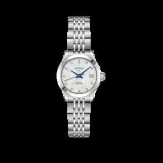 Longines Damenuhr Record Automatik Chronometer 26mm L2.320.4.87.6