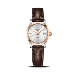 Longines Damenuhr Record Automatik Chronometer 26mm L2.320.5.72.2