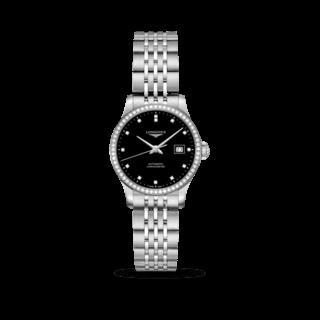 Longines Damenuhr Record Automatik Chronometer 30mm L2.321.0.57.6