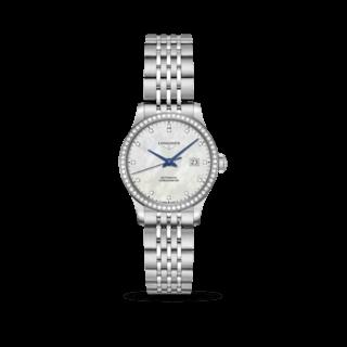 Longines Damenuhr Record Automatik Chronometer 30mm L2.321.0.87.6