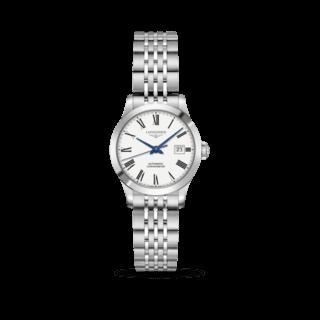 Longines Damenuhr Record Automatik Chronometer 30mm L2.321.4.11.6