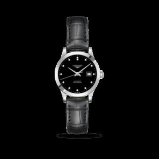 Longines Damenuhr Record Automatik Chronometer 30mm L2.321.4.57.2