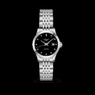 Longines Damenuhr Record Automatik Chronometer 30mm L2.321.4.57.6