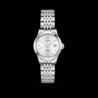 Longines Damenuhr Record Automatik Chronometer 30mm L2.321.4.72.6