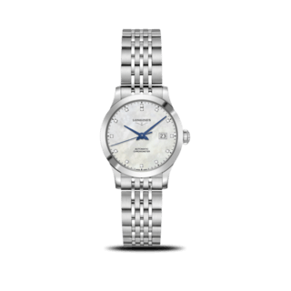 Longines Damenuhr Record Automatik Chronometer 30mm L2.321.4.87.6
