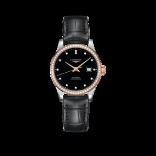Longines Damenuhr Record Automatik Chronometer 30mm L2.321.5.59.2