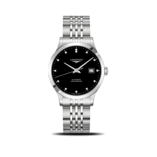 Longines Armbanduhr Record Automatik Chronometer 38,5mm L2.820.4.57.6