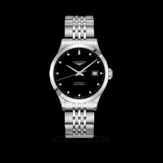 Longines Herrenuhr Record Automatik Chronometer 38,5mm L2.820.4.57.6