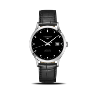 Longines Herrenuhr Record Automatik Chronometer 40mm L2.821.4.57.2