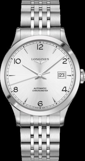 Herrenuhr Longines Record Automatik Chronometer 40mm mit silberfarbenem Zifferblatt und Edelstahlarmband