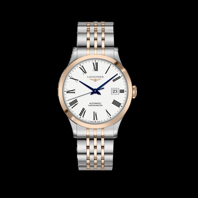 Herrenuhr Longines Record Automatik Chronometer 40mm mit weißem Zifferblatt und Edelstahlarmband bei Brogle
