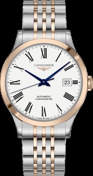 Herrenuhr Longines Record Automatik Chronometer 40mm mit weißem Zifferblatt und Edelstahlarmband