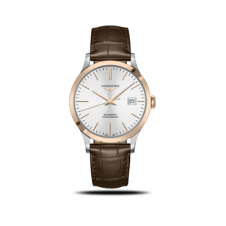 Longines Herrenuhr Record Automatik Chronometer 40mm L2.821.5.72.2