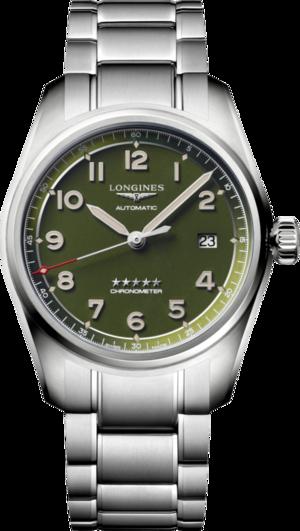 Armbanduhr Longines Spirit Automatik Chronometer 40mm mit grünem Zifferblatt und Edelstahlarmband