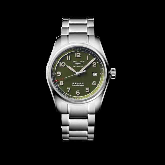 Armbanduhr Longines Spirit Automatik Chronometer 40mm mit grünem Zifferblatt und Edelstahlarmband bei Brogle
