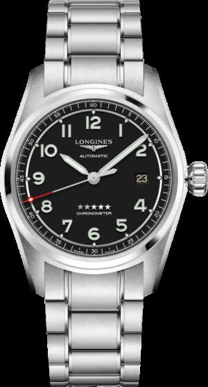 Herrenuhr Longines Spirit Automatik Chronometer 40mm mit schwarzem Zifferblatt und Edelstahlarmband