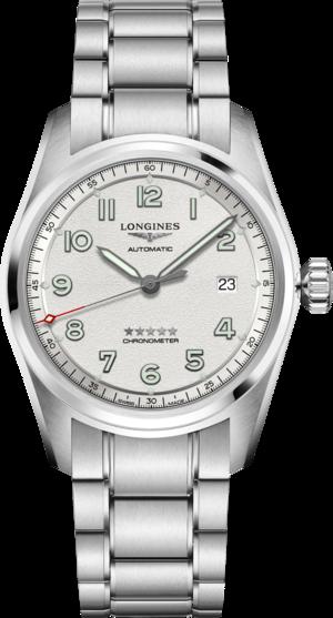 Herrenuhr Longines Spirit Automatik Chronometer 40mm mit silberfarbenem Zifferblatt und Edelstahlarmband