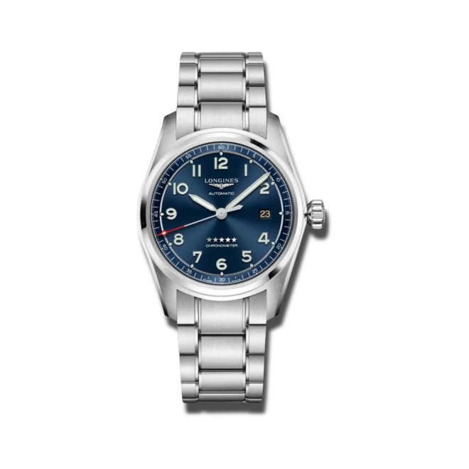 Herrenuhr Longines Spirit Automatik Chronometer 40mm mit blauem Zifferblatt und Edelstahlarmband bei Brogle
