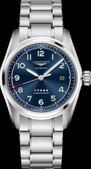 Herrenuhr Longines Spirit Automatik Chronometer 40mm mit blauem Zifferblatt und Edelstahlarmband