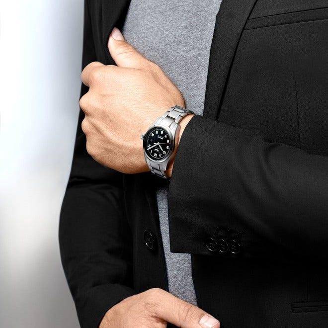 Herrenuhr Longines Spirit Automatik Chronometer 42mm mit schwarzem Zifferblatt und Edelstahlarmband bei Brogle
