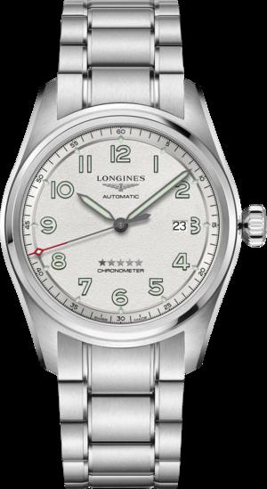 Herrenuhr Longines Spirit Automatik Chronometer 42mm mit silberfarbenem Zifferblatt und Edelstahlarmband