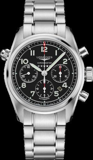 Herrenuhr Longines Spirit Automatik Chronometer 42mm mit schwarzem Zifferblatt und Edelstahlarmband