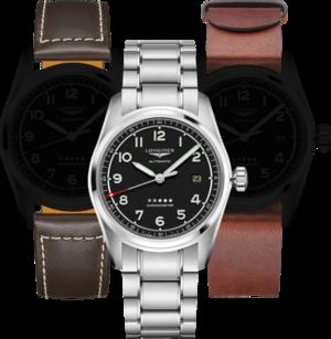 Herrenuhr Longines Spirit Automatik Chronometer Prestige Edition 40mm mit schwarzem Zifferblatt und Edelstahlarmband