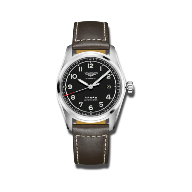 Herrenuhr Longines Spirit Automatik Chronometer Prestige Edition 40mm mit schwarzem Zifferblatt und Edelstahlarmband bei Brogle