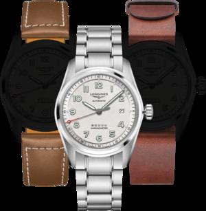 Herrenuhr Longines Spirit Automatik Chronometer Prestige Edition 40mm mit silberfarbenem Zifferblatt und Edelstahlarmband