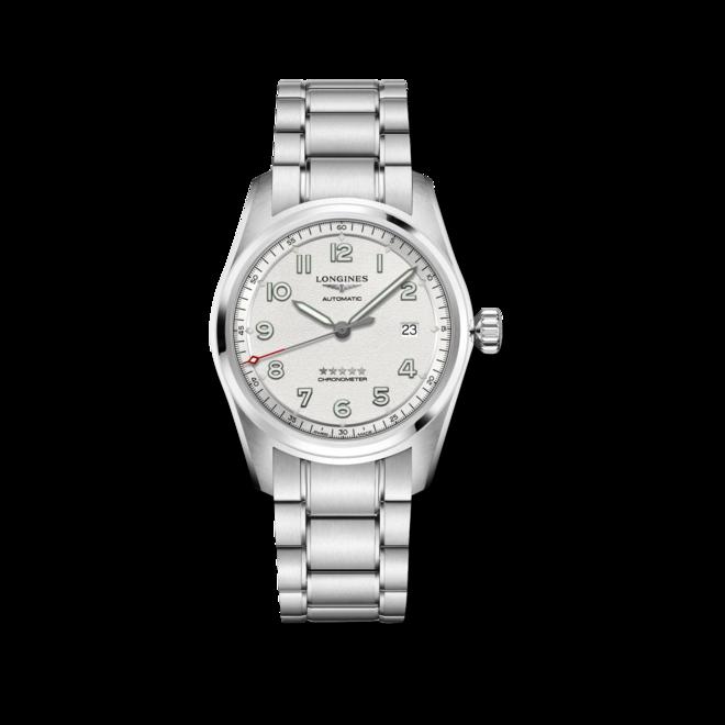 Herrenuhr Longines Spirit Automatik Chronometer Prestige Edition 40mm mit silberfarbenem Zifferblatt und Edelstahlarmband bei Brogle