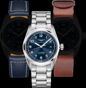 Herrenuhr Longines Spirit Automatik Chronometer Prestige Edition 40mm mit blauem Zifferblatt und Edelstahlarmband
