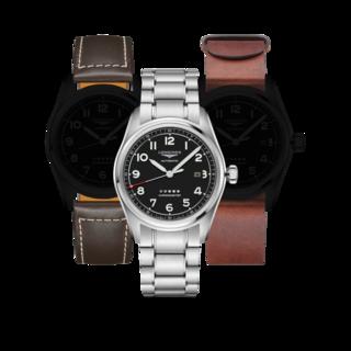 Longines Herrenuhr Spirit Automatik Chronometer Prestige Edition 42mm L3.811.4.53.9