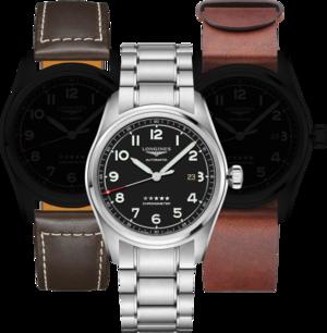 Herrenuhr Longines Spirit Automatik Chronometer Prestige Edition 42mm mit schwarzem Zifferblatt und Edelstahlarmband