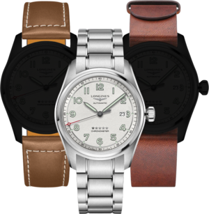 Herrenuhr Longines Spirit Automatik Chronometer Prestige Edition 42mm mit silberfarbenem Zifferblatt und Edelstahlarmband