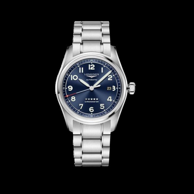 Herrenuhr Longines Spirit Automatik Chronometer Prestige Edition 42mm mit blauem Zifferblatt und Edelstahlarmband bei Brogle