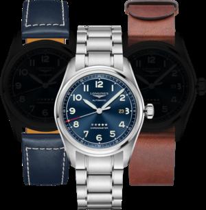 Herrenuhr Longines Spirit Automatik Chronometer Prestige Edition 42mm mit blauem Zifferblatt und Edelstahlarmband