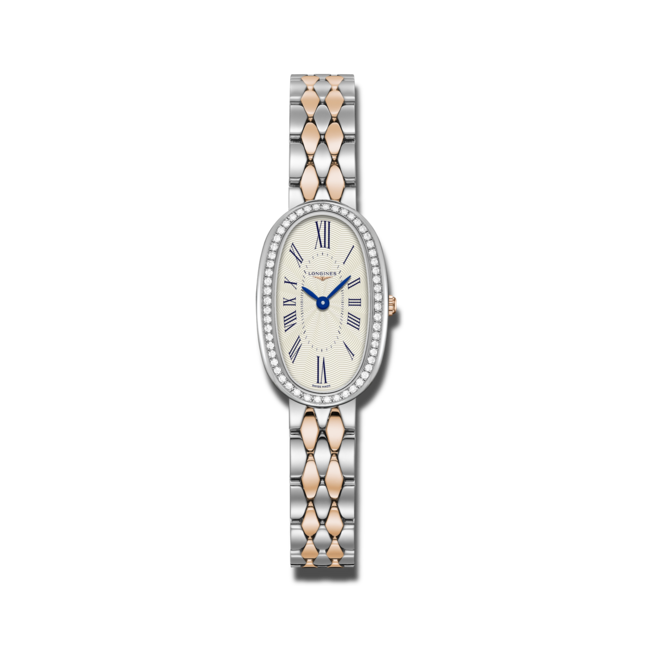 Damenuhr Longines Symphonette Quarz S mit Diamanten, cremefarbenem Zifferblatt und Edelstahlarmband bei Brogle