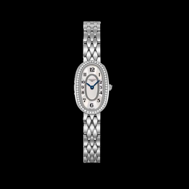 Damenuhr Longines Symphonette Quarz XS mit Diamanten, silberfarbenem Zifferblatt und Edelstahlarmband bei Brogle